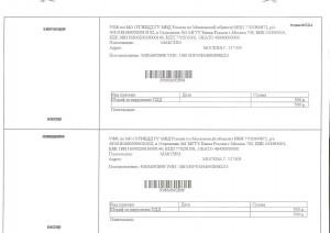 квитанция на оплату штрафа за превышение скорости